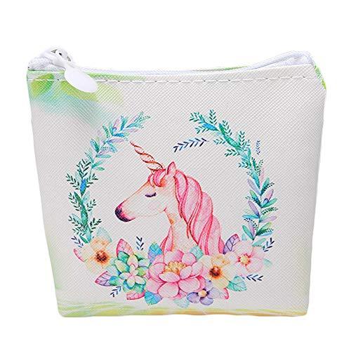 Bianco In Smerigliato Unicorno Pelle Pu Donna Portafoglio Jingyuu Animale qwax8xUA