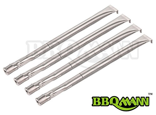 BBQMANN BA361 (4-pack) Universal Straight Stainless Steel Pipe Burner for Charmglow, Nexgrill, Costco Kirkland, Perfect Glo, Permasteel, Sterling Forge, and Other ()