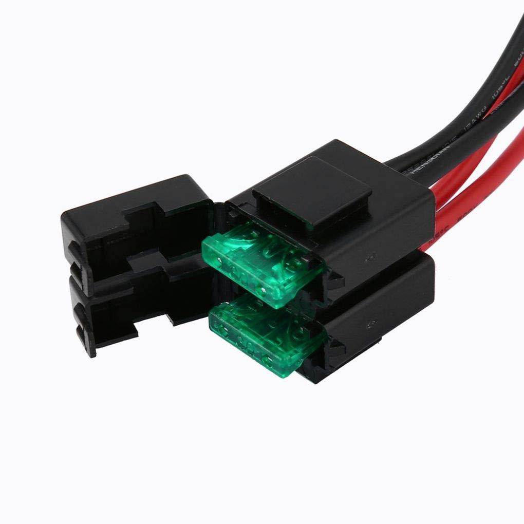 FT-450 TS-480 FT-991 FT-9501M 30A Sicherung 4-polig Kurzwellennetzanschlussleitung Kabel Ben-gi Ersatz f/ür ICOM IC-7000 IC-7600