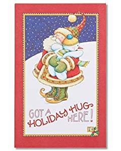 Upc 068981105251 lookup barcodespider american greetings holiday hug christmas card with glitter m4hsunfo