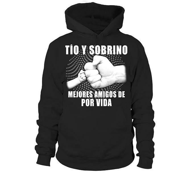 TEEZILY Tio Y Sobrino Mejores Amigos De por Vida Sudadera con Capucha Unisex: Amazon.es: Ropa y accesorios