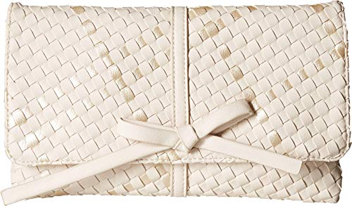 Deux Lux Women's Barrow Bow Clutch Ivory/Pearl One Size ()