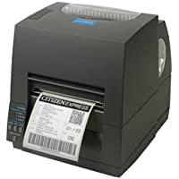 Citizen America CL-S621-GRY CL-S621 Series Thermal Transfer/Direct Thermal Barcode and Label Printer with USB/Serial Connection, 4 Maximum Print Width, 203 DPI Resolution, Gray