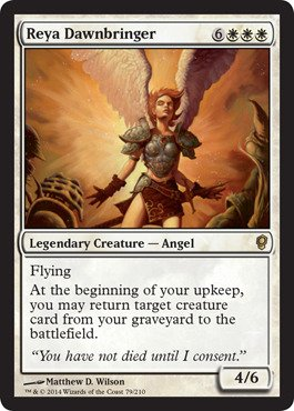 Magic: The Gathering - Reya Dawnbringer - Conspiracy (Best White Angel Cards Mtg)