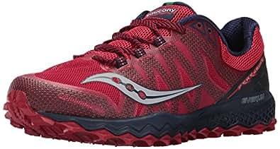 Saucony Men's Peregrine 7 Running Shoe, Red Navy, 10 Medium US