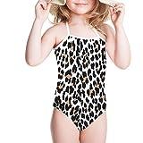 Sannovo Little Girls' Animal Fur Print Beachwear One Piece Swimsuit Surf-Wear