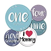 Baby Monthly Milestone Stickers - 24 Adorable Stickers for Boys Or Girls in Their First Year. Capture Loving Memories for a Scrapbook Or Track Their Achievements from 1-12 Months
