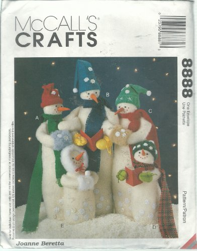 (McCall's 8888 Sewing Pattern Crafts Snow Carolers)