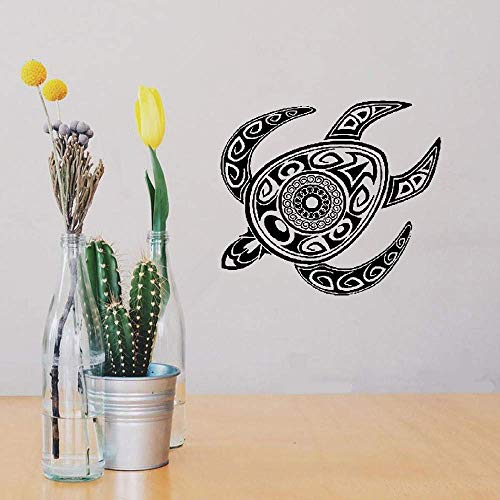 Wall Decal Wall Written Vinyl Wall Decals Quotes Sayings Words Art Deco Lettering Turtle Tortoise Animal Tribal Ornament Mural ()