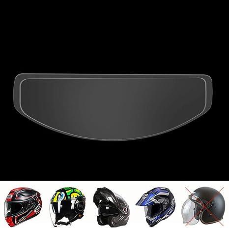 Motorrad Helm Visier Einsatz Folie Anti Blend Anti Nebel Shield Folie Wasserdicht Linse Schutz Durchsichtig Einheitsgröße Küche Haushalt