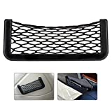 Yosoo 8.5×20cm Universal Car Seat Side Back Storage Net Bag Phone Holder Pocket Organizer Car Storage Resilient Net Gps Phone Holder Pocket Organizer