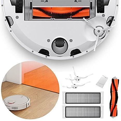 Ul 6pcs Robot de limpieza Accesorios Principales cepillo + 2 cepillos laterales + 2 Filtros Para Xiaomi Mi Robot aspirador: Amazon.es: Hogar
