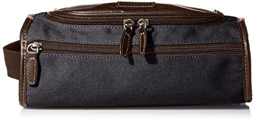 Price comparison product image Bill Adler Men's Canvas Top Zip Travel Kit, Black, One Size