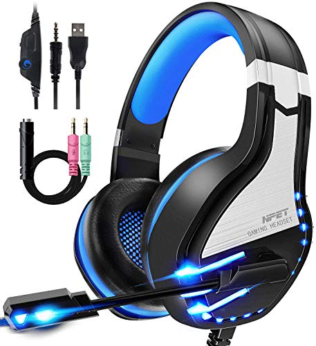 NPET HS10 Stereo Gaming Headset for PS4, PC, Xbox One Controller, Noise...
