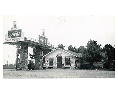 1941 Pure Oil Gas Station Photo Harmony NC Gas Pump Coca Cola Pepsi Cola from AutoLit