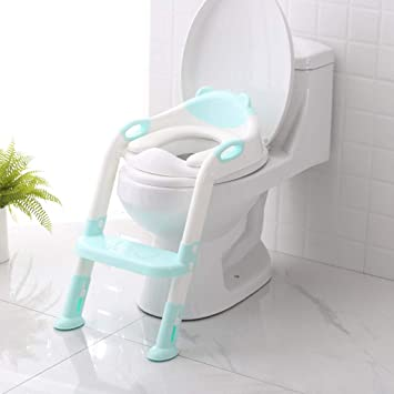 Baby Children Kids Toilet Potty Adjustable Step Stool Training Seats Chair Hot