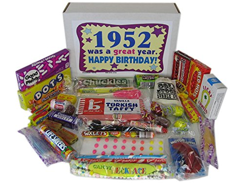 Woodstock Candy 1952 66th Birthday Gift Box of Retro Nostalgic Candy for a 66 Year Old Man or Woman Born in the '50s Jr