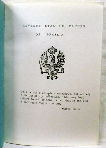Revenue Stamped Paper - Revenue Stamped Papers of Prussia