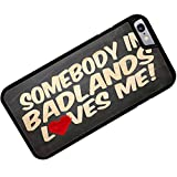 Rubber Case for iphone 6 Somebody in Badlands Loves me, South Dakota, National park - Neonblond