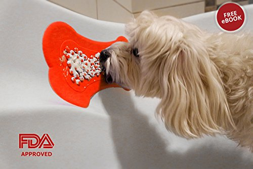 CRFX Dog Lick Pad for Easy and Funny Bath - Dog Peanut Butte