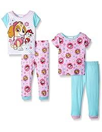 Paw Patrol Girls Skye and Marshall Pretty and Proud Rescue Pals 4-Piece Pajama Set