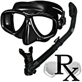 Prescription Purge Mask Dry Snorkel Snorkeling Scuba Diving Combo Set /SCS0005