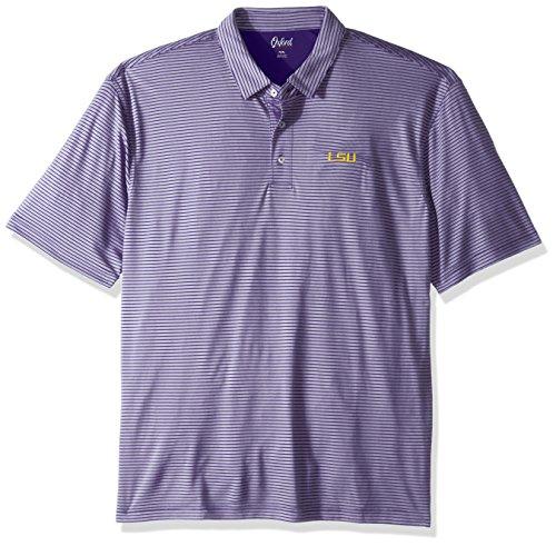 Lsu Tigers Striped Shirt - NCAA LSU Tigers Adult Men Calhoun 2-Tone Stripe Ottoman Polo, 3X-Large, Grape