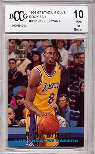 1996-97 Stadium Club Rookies 1#R12 Kobe Bryant Rookie Card Graded BCCG 10