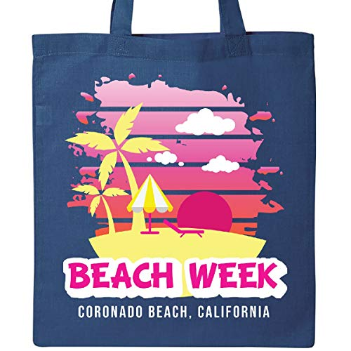 (Inktastic - Beach Week Coronado Beach California with Tote Bag Royal Blue 35cc3)