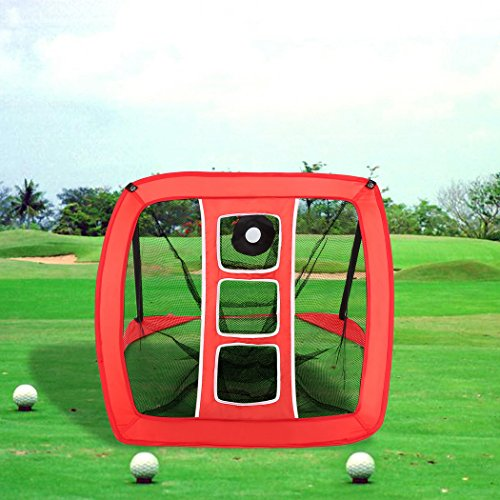 Leoneva Portable Golf Hitting Net, Pop-Up Foldable Golf Practice Driving Range Net (Chipper Net)
