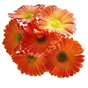 FRP Flowers Real Touch Latex 24 inch Gerbera Daisy for Bouquets, vase Arrangements, Home/Office Decor (Pack of 5) 45