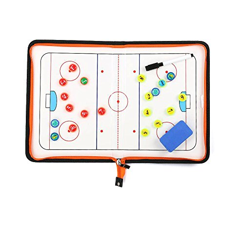 Wrzbest Ice Hockey Coaching Board Strategy Tactics Clipboard Coach's Game Match Training Plan Accesories (Magnetic Hockey)