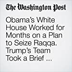 Obama's White House Worked for Months on a Plan to Seize Raqqa. Trump's Team Took a Brief Look and Decided Not to Pull the Trigger. | Adam Entous,Greg Jaffe,Missy Ryan