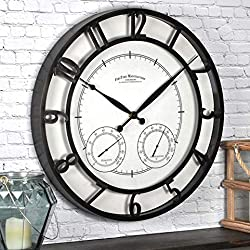 FirsTime & Co. Park Outdoor Wall Clock, 18, Oil Rubbed Bronze