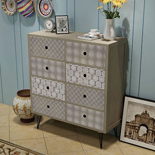 - SKB family Sideboard 8 Drawers Gray Cabinet Style Furniture
