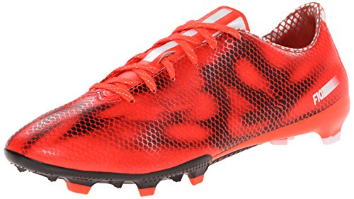 adidas Performance Men's F10 Firm-Ground Soccer Cleat, Solar Red/White/Core Black, 11 M US