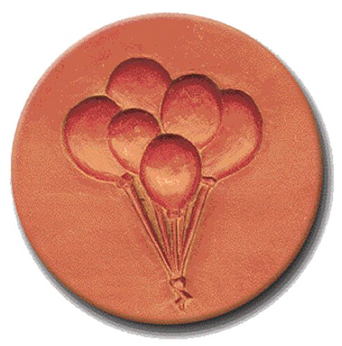 RYCRAFT 2 inch Round Cookie Stamp with Handle & Recipe Booklet-PARTY BALLOONS