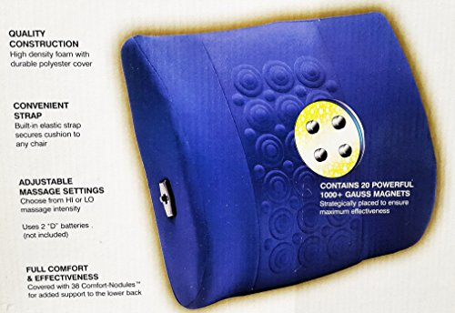 Homedics Thera P Magnetic Wave Therapy Back Chair Massage Support 20 Magnets ()