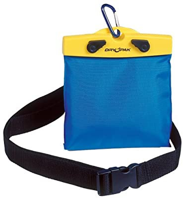 "DRY PAK Dry Bag with Belt Strap for Cameras, Cell Phones, iPhone, Android, 6"" x 5"" Blue & Yellow"