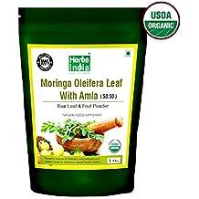 Organic Moringa and Amla Combination Powder 16 Ounces(1 Pound) - USDA Certified Organic, 1 Powder With 2 Benefits - HerbsIndia