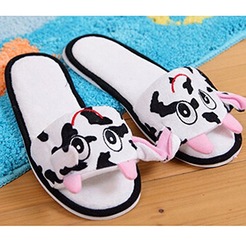 Cow Home E Women's a market Slipper Milk Slippers Cartoon Summer Animation Plush qPaqw8r