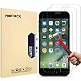 MaxTeck [3 Pack] iPhone 8 Plus 7 Plus Screen Protector, 0.26mm 9H Tempered Glass Screen Protector Anti-Shatter Film for iPhone 7 Plus 8 Plus 5.5' inch [3D Touch Compatible]