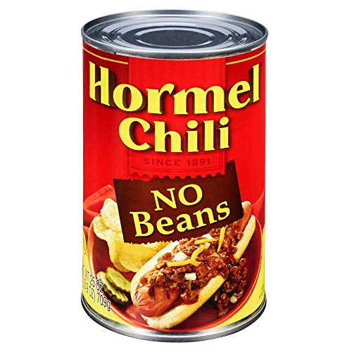 Hormel Chili No Beans, 25 Ounce (Pack of 6)