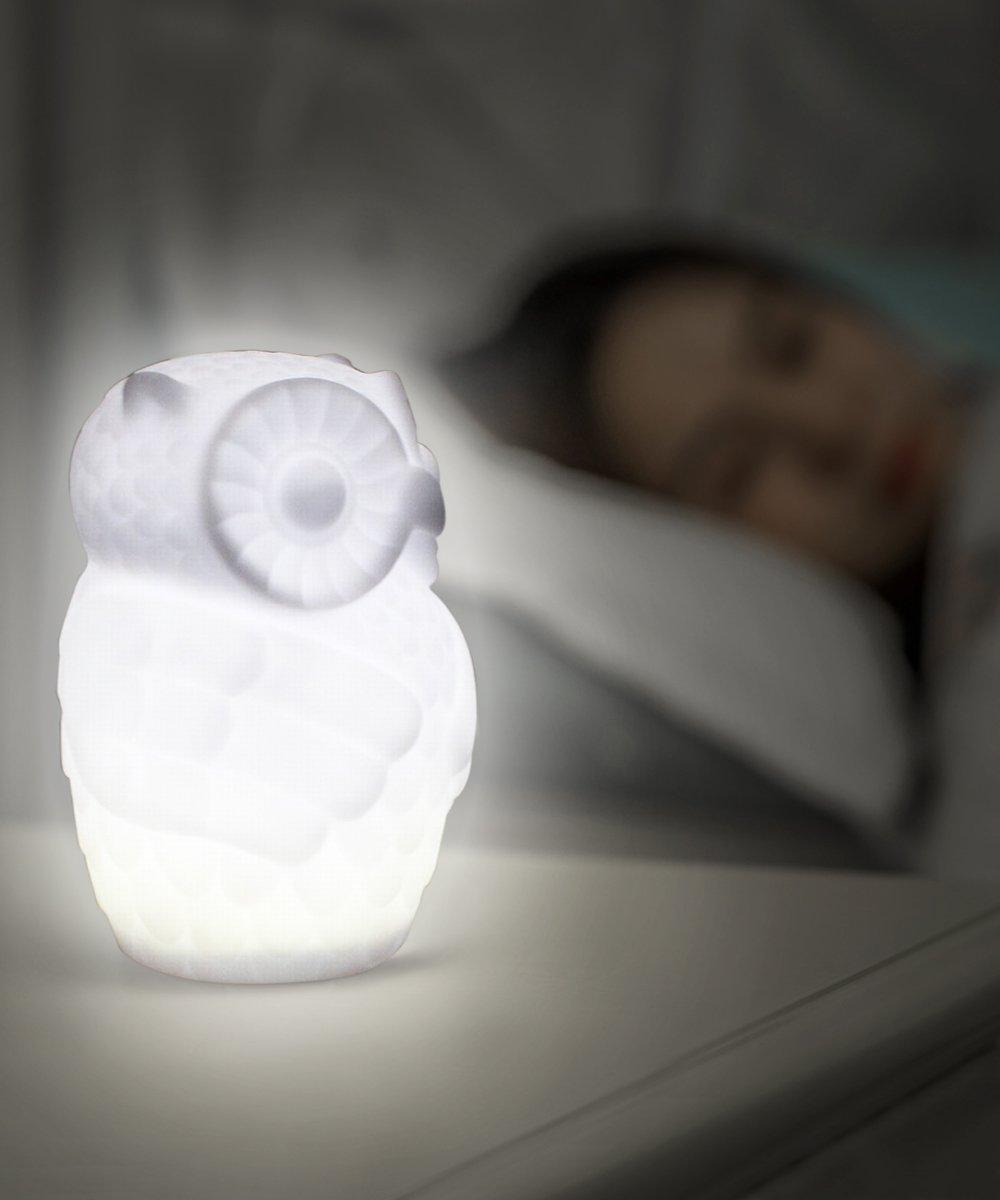 Lovingvs Owl Night Light, Cool White Battery Powered Porcelain Timer LED Table Lamp Desk lamp for Bedroom Decorative by Lovingvs (Image #5)