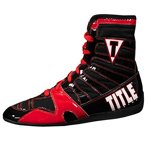 Title Boxing Velocity KO Boxing Shoes, Red/Black, 10