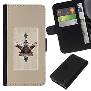 All Phone Most Case / Oferta Especial Cáscara Funda de cuero Monedero Cubierta de proteccion Caso / Wallet Case for LG OPTIMUS L90 // Lapland Deer Winter Polar Alaska