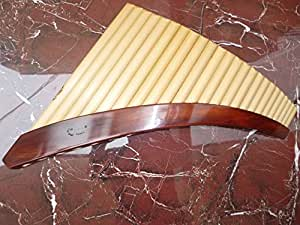 Professional Lupaca Pan Flaute 24 Pipes Tunable Natural Bamboo - Item in USA
