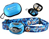 Bright LED Headlamp Flashlight and Case for Running, Camping, Kids - - White