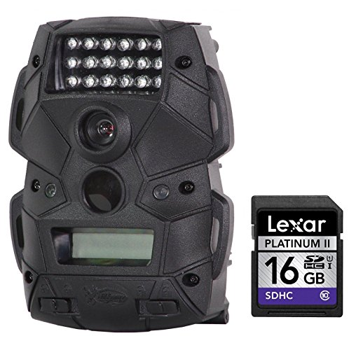 Wild Game Innovations Cloak 4 Digital Trail Camera Black  Compatible High Speed Lexar Platinum II 16 GB Class 10 SD Card Bundle