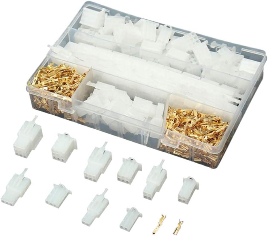 qhtongliuhewu 580 Piezas de Cable eléctrico de Coche Conector Aislado Terminal Kit con Caja de Almacenamiento – 2,8 mm 2 3 4 6 9 Pin: Amazon.es: Coche y moto